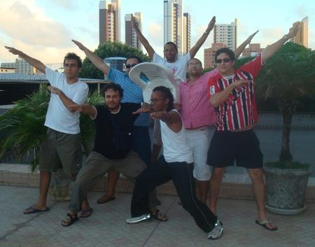Da esquerda para a direita e de cima para baixo: Nayan, Arthur, Eu, Thomas, Manteda, Rafael e Marley