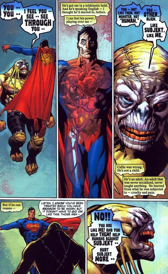 Figura 1: Órgãos internos do Super Homem (Superman 656).